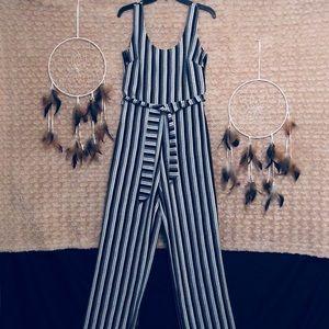 a585cfc165c3 Karl Lagerfeld Pants - Karl Lagerfeld Sleeveless Striped Jumpsuit